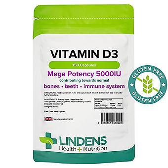 Lindens Vitamin D3 5000iu Capsules 150 (922)
