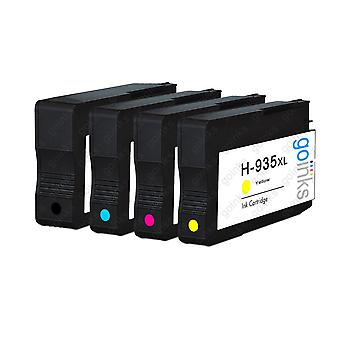 1 Ensemble compatible de 4 cartouches d'encre d'imprimante HP 934 & 935 (HP 934XL & 935XL)