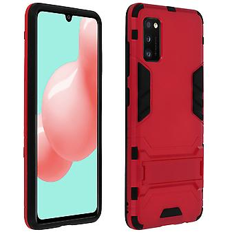 Protective Case Samsung Galaxy A41 Hybrid Anti-Shock Protection Video Holder Red