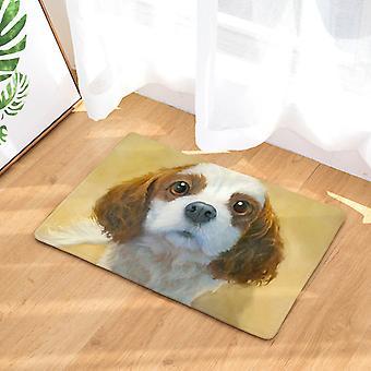 YANGFAN Cute Dog Peinture à l'huile Art Anti Slip Bath Mat
