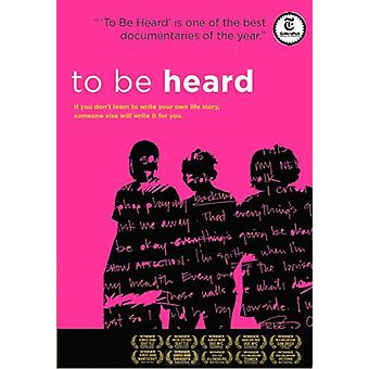 To Be Heard [DVD] USA import
