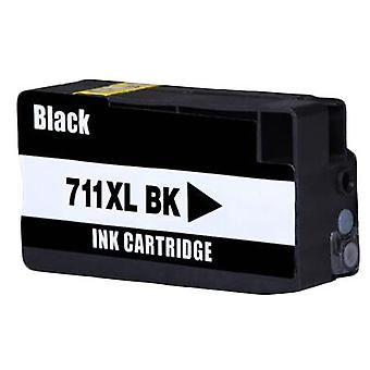 RudyTwos Replacement for HP 711 Ink Cartridge Black Compatible with Designjet T120, T520