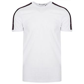 Antony Morato Crew Hals Vit Axel Tejpade T-shirt