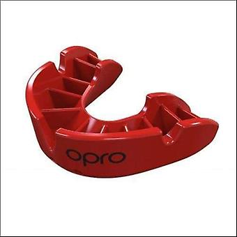 Opro bronze gen 4 mouth guard red