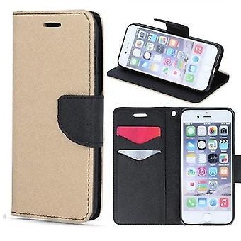 Samsung Galaxy A41 - Smart Fancy Mobilplånbok - Guld/Svart