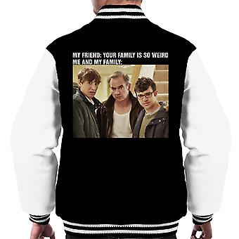 Friday Night Dinner My Family Meme Men's Varsity Jacket