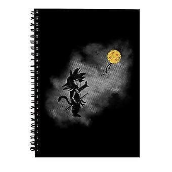 Saiyan With Balloon Banksy Dragon Ball Z Spiral Notebook