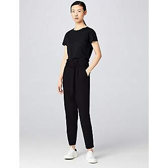 MERAKI Women's High Waist Paper Bag Pants,  Black, EU S (US 4-6)