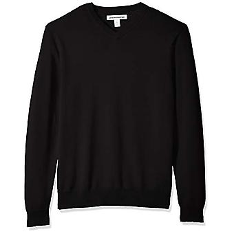 Essentials Men's V-Neck Pullover, schwarz, klein