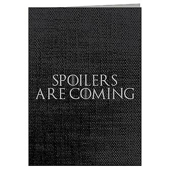 Game Of Thrones Spoilers Are Coming Greeting Card