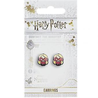 Brincos de prata de Harry Potter Chibi Luna Lovegood