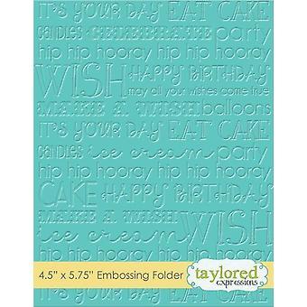 Taylored Expressions Grafische vertoningen Verjaardag Reliëf Map