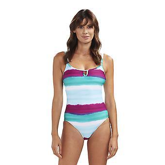 Rösch 1195531-11820 Women's Beach Deep Ocean Multicolour Costume One Piece Swimsuit