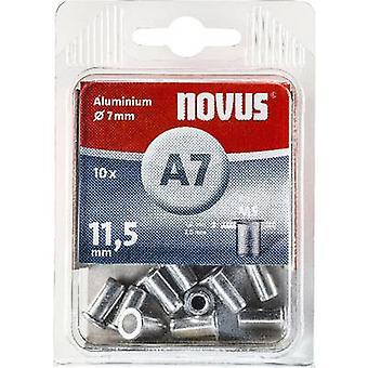Novus 045-0042 Blind klinknagel moer (Ø x L) 7 x 11.5 mm M5 Aluminium Aluminium 10 PC('s)