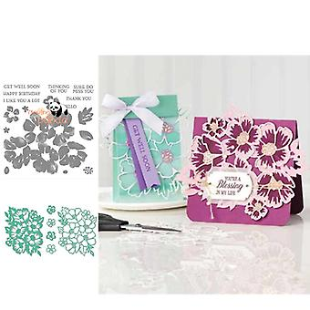 Layered Blossoms Metal Cutting Dies And Stamps For Scrapbooking Stencils - Diy