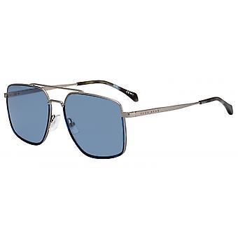 Okulary przeciwsłoneczne Mężczyźni 1091/SR81/KU Męskie srebro/niebieski