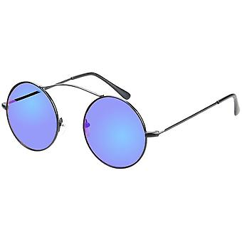 Sunglasses Unisex black with blue mirror lens (AZ-17-603)