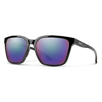 Sonnenbrille Unisex Shoutout  polarisiert schwarz/violett mehrschichtig