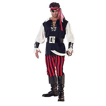 Cutthroat Pirate of Caribbean Captain Buccaneer Book Week Men Costume
