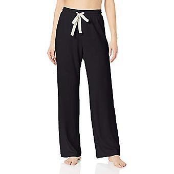 Essentials Women's Lightweight Lounge Terry Pyjama Pant, -black, XX-La...