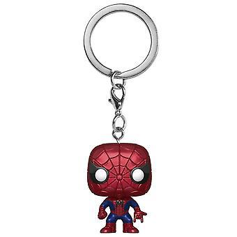 Spider-Man Metallic US Ex. Pocket Pop! Nøglering