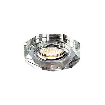 Recessed Downlight Deep Hexagonal Rim Only Clear, Requires 100035310 To Complete The Item