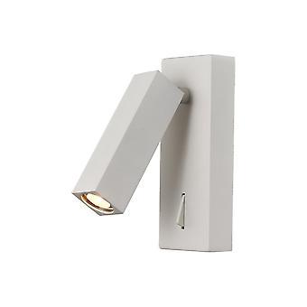 Vägg, Läslampa, 3W LED, 3000K, 210lm, Switched, Vit