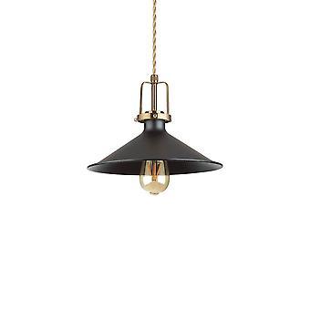 Ideel Lux ERIS-3 - Indendørs Dome Loft Vedhæng Lampe 1 Lys Sort, E27