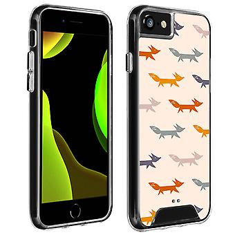 Back Cover for iPhone SE 2020/8/7/6S/6 - Fox print