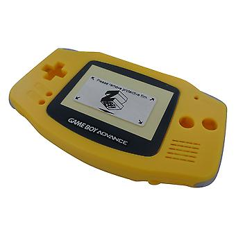 Housing shell for game boy advance nintendo complete mod kit replacement set - yellow | zedlabz