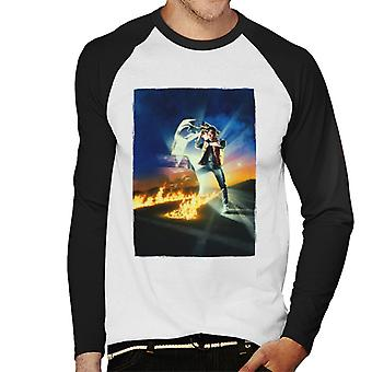 Back to the Future Marty Looking At His Watch Men's Baseball Long Sleeved T-Shirt