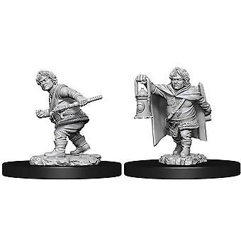 (W11) Donjons & Dragons Nolzur's Wonderfulous Unpainted Miniatures Male Halfling Rogue
