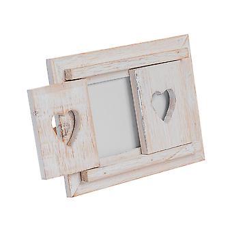 """Nicola primavera blanco de madera corazón persianas de la imagen independiente de la foto - 6 x 4"""""""