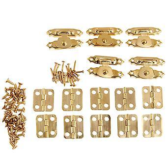 15個/セットヴィンテージラウンドヒンジ - 鉄装飾アンティークラッチハスプ、ジュエリー