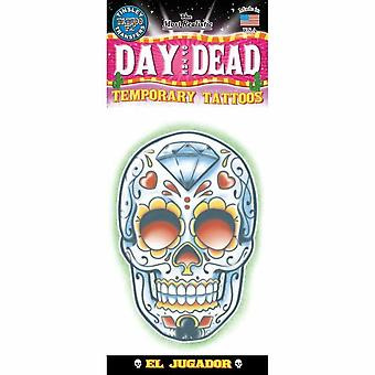 Tinsley Transfers Temporary Tattoo - Day Of The Dead (El Jugador)