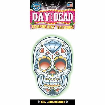 Tinsley transfère le tatouage temporaire - Jour des morts (El Jugador)