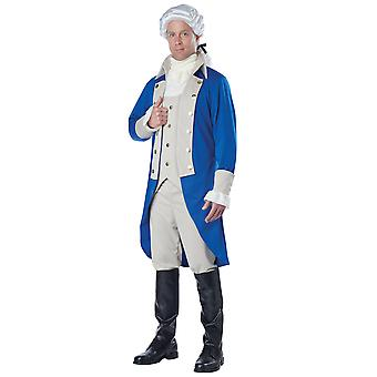 George Washington U.S. primer presidente fundador Colonial Mens traje