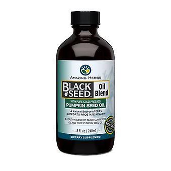 مدهش الأعشاب زيت البذور السوداء مع بذور اليقطين، 8 أوقية