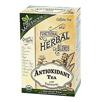 The Mate Factor Antioxidant Tea with Turmeric, 20 Bags
