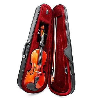 Natural Basswood Violin With Arbor Bow Steel String For Beginners