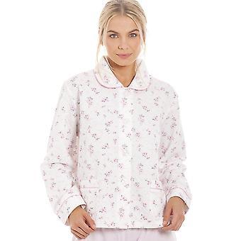 Camille mujer rosa rosa en relieve chaqueta de cama acolchada