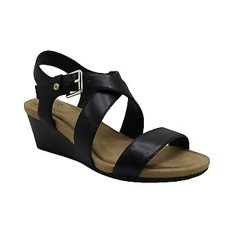 Giani Bernini Womens Blythee Leather Peep Toe Casual Ankle Strap Sandals