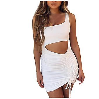 Fashion Womens Casual Loose Sexy, Strapless Sexy Lace-up Cutout Lady Dress