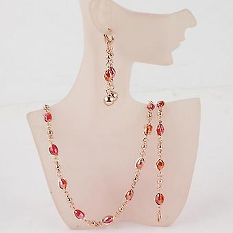 Fashion Crystal Beads Jewelry Sets Gold Wedding Jewelry Sets Women Necklace