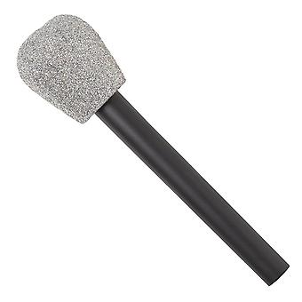 Amscan totally 80s glitter microphone - 1 pc silver