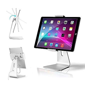 Abovetek elegant aluminum ipad pro stand - swivel ipad air/mini kiosk pos stand - two mount holders