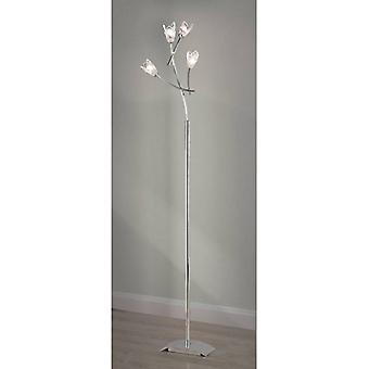 Vloerlamp Pietra 4 Bollen G9, Gepolijst chroom