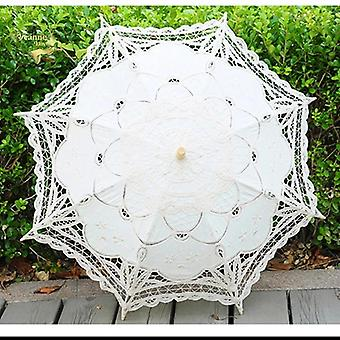 Summer Vintage Lace Bridal Umbrellas Women For Bride Sun Protection