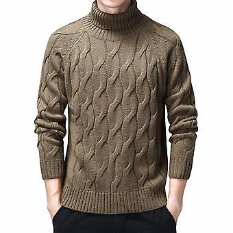 Turtleneck Sweaters, Thick Warm Winter Sweater, Casual Cotton Geometric Pattern
