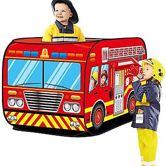 Game House Play Tent Fire Truck And Police Bus Foldable Pop Up Toy